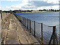 SP0081 : Bartley Green Reservoir & dam by Row17