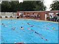 SJ6452 : North West Triathlon, Snowhill pool, Nantwich by David Hawgood