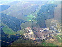 NS8127 : Glentaggart opencast coal mine from the air by Thomas Nugent
