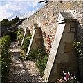 NS9886 : Culross Palace Garden buttresses : Week 36