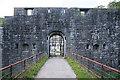 SX3954 : Antony: Scraesdon Fort entrance by Martin Bodman