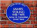 Photo of James Young blue plaque