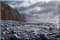 SS9567 : Cliff, rocks and sea - Llantwit Major by Mick Lobb