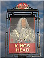 TQ9738 : Kings Head, Pub Sign, Shadoxhurst by David Anstiss