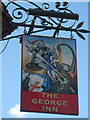TQ8253 : The George Inn sign by Oast House Archive