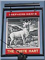 TQ7144 : The White Hart sign by Oast House Archive