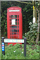 The notice on this K6 telephone box states: 'BT no longer owns this kiosk. The telephone equipment has been removed and the kiosk is owned and maintained by the local authorities'.