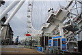 TQ3079 : London Eye - entrance by Nigel Chadwick