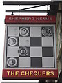 TQ7871 : The Chequers, Pub Sign, Hoo St.Werburgh by David Anstiss
