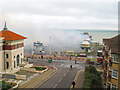 TQ8109 : Hastings Pier on Fire by Oast House Archive