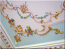 SO8844 : Dining Room ceiling at Croome Court by Trevor Rickard