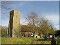 TM4261 : Knodishall St Lawrence�s church by Adrian S Pye