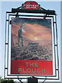 TQ5409 : The Plough sign by Oast House Archive