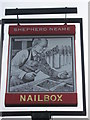 TR2036 : Nailbox, Pub Sign, Folkestone by David Anstiss