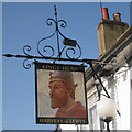 TQ5808 : Kings Head sign by Oast House Archive