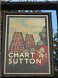 TQ7950 : Close-up of Chart Sutton Village Sign by David Anstiss