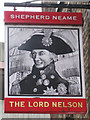 TR3241 : The Lord Nelson sign by Oast House Archive
