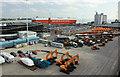 SU4209 : Car handling area Eastern Dock by ben hollier