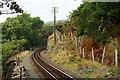 SH6741 : Ffestiniog Railway Track at Dduallt, Gwynedd by Peter Trimming