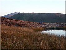 SH8514 : Wild camp, Llyn Foeldinas by Richard Law
