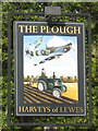 TQ3618 : The Plough sign by Oast House Archive