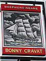 TQ9434 : Bonny Cravat sign by Oast House Archive