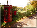 ST7632 : Gasper: postbox № BA12 79 and phone by Chris Downer