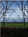 SP8025 : Pylons north of Hoggeston by Mr Biz