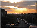 TQ8312 : Sunset at Churchill Avenue by Oast House Archive