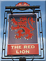 TQ6332 : The Red Lion sign by Oast House Archive