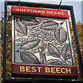 TQ6131 : Best Beech sign by Oast House Archive