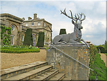 ST9769 : Ornamental stag in the gardens by Trevor Rickard
