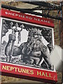 TR3967 : Neptunes Hall, Pub Sign, Broadstairs by David Anstiss
