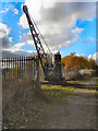 SD7606 : Manchester, Bolton & Bury Canal: Mount Sion Steam Crane by David Dixon