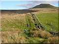 SJ9769 : Concessionary path on Piggford Moor approaching Shutlingsloe by Colin Park