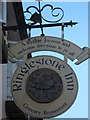 TQ8755 : Ringlestone Inn Pub Sign by David Anstiss