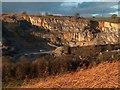 SK2373 : Bleaklow Limestone Quarry from Bank Wood : Week 47