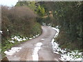 SW7646 : The road from Three Burrows to Tregavethan by Rod Allday