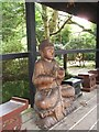 SW8766 : Buddha figure in the Japanese Garden, St Mawgan by C P Smith