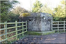 SP3701 : Pillbox at the farm by Bill Nicholls