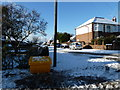 SU6805 : A snowy scene at the boundary of Second Avenue and St Andrew's Road by Basher Eyre