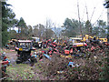 SJ8759 : Tractors graveyard (4) by Stephen Craven