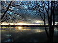 SK6010 : January sunset at King Lear's Lake,Watermead Country Park,Leicester : Week 2