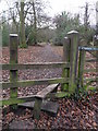 Dist:0.4km<br/>Entrance to Coed Wood, 'restored and made available for the benefit of the residents of Sychdyn, in memory of Andrew Dykes Scott Bankes...who died on 18th June 1987 at the age of Thirty-One years.' As the sign indicates.