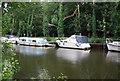 TQ7556 : Boats, River Medway by N Chadwick