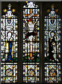 TL4137 : St Nicholas, Little Chishill - Stained glass window by John Salmon