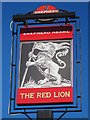 TQ9249 : The Red Lion sign by Oast House Archive