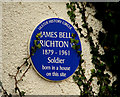 Photo of James Bell Crichton blue plaque