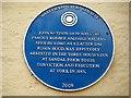 Photo of John Nevison blue plaque