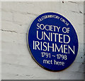 Photo of Society of United Irishmen blue plaque